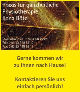 Praxis für ganzheitliche Physiotherapie Ilona Bötel